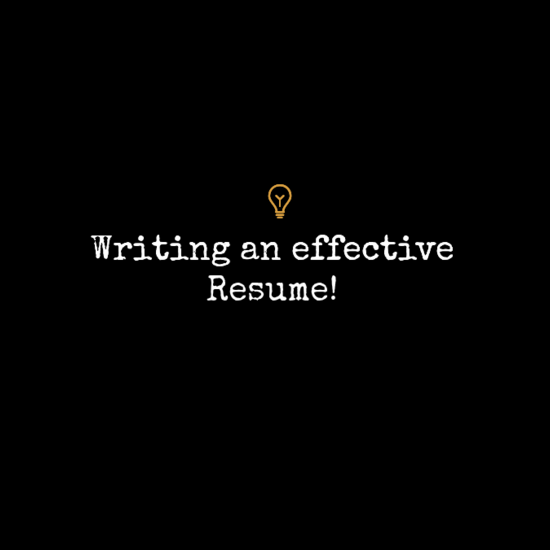 Hello World! Hope Itu0027s Going Well For You Guys. As The Blog Title Reads,  This Write Up Is About Some Simple Ways To Make An Effective Resume.  Writing An Effective Resume